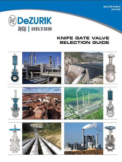 New Knife Gate Valve Selection Guide Available from DeZURIK (Read More)
