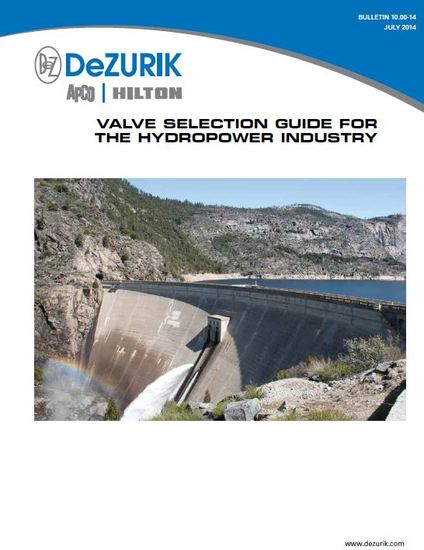 New Valve Selection Guide for the Hydropower Industry