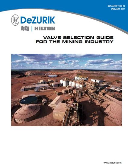 New Valve Selection Guide for the Mining Industry Now Available