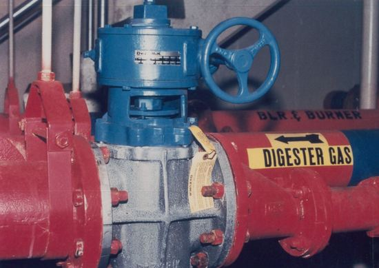DeZURIK Eccentric Plug Valves Provide Positive Shutoff on Digester Gas Service