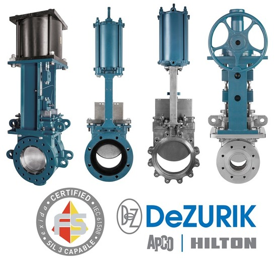DeZURIK Knife Gate Valves Earn Safety Integrity Level (SIL) Certification (Read More)