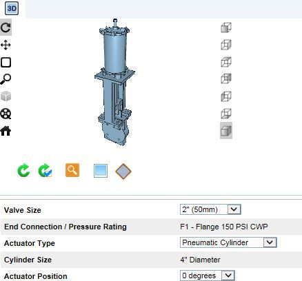KSL-SD Slurry Knife Gate Valves 3D CAD Files Available From DeZURIK