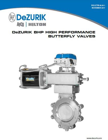 New Literature Available on DeZURIK High Performance Butterfly Valves