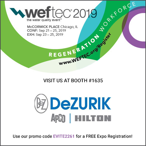 JOIN US WITH YOUR CUSTOMERS AT WEFTEC 2019!