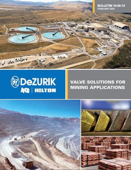 DeZURIK Publishes New Valve Solutions for Mining Guide