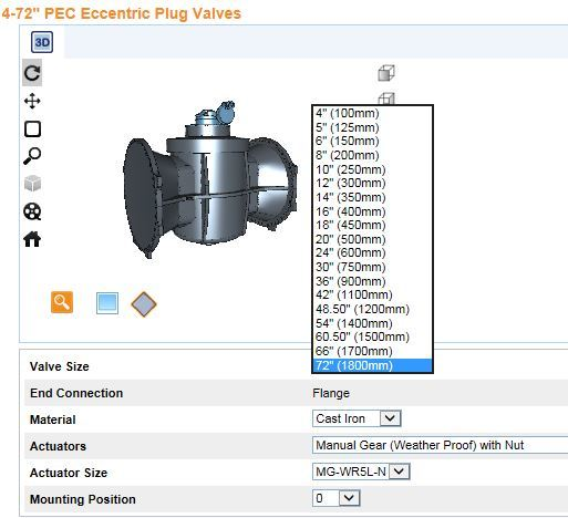 "CAD Models for 24"" & Larger Eccentric Plug Valves Now Available"