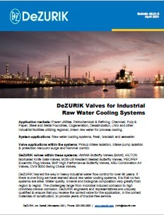 DeZURIK launches an Industrial Raw Water Cooling Systems Bulletin