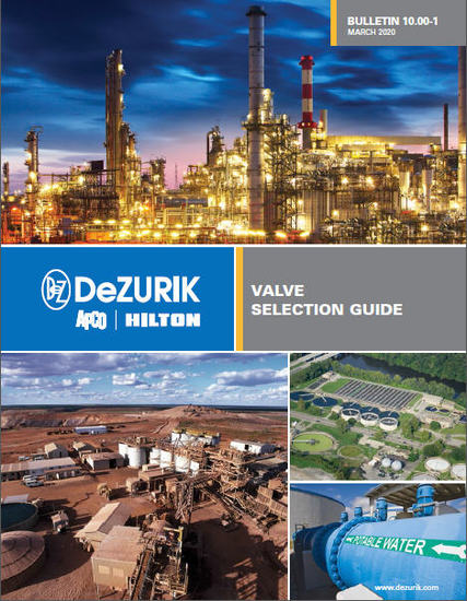 DeZURIK Announces New Valve Selection Guide