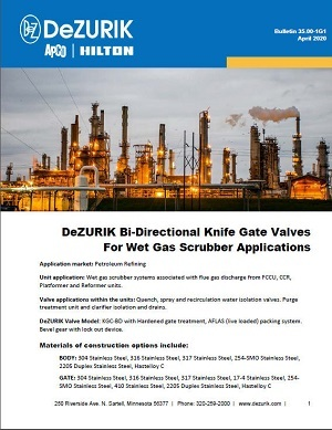 DeZURIK Wet Gas Scrubber Valves Up to the Challenge!