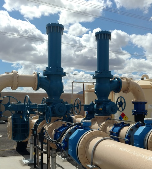 APCO Surge Relief Angle Valves Prevent Surge Damage on New Lift Station